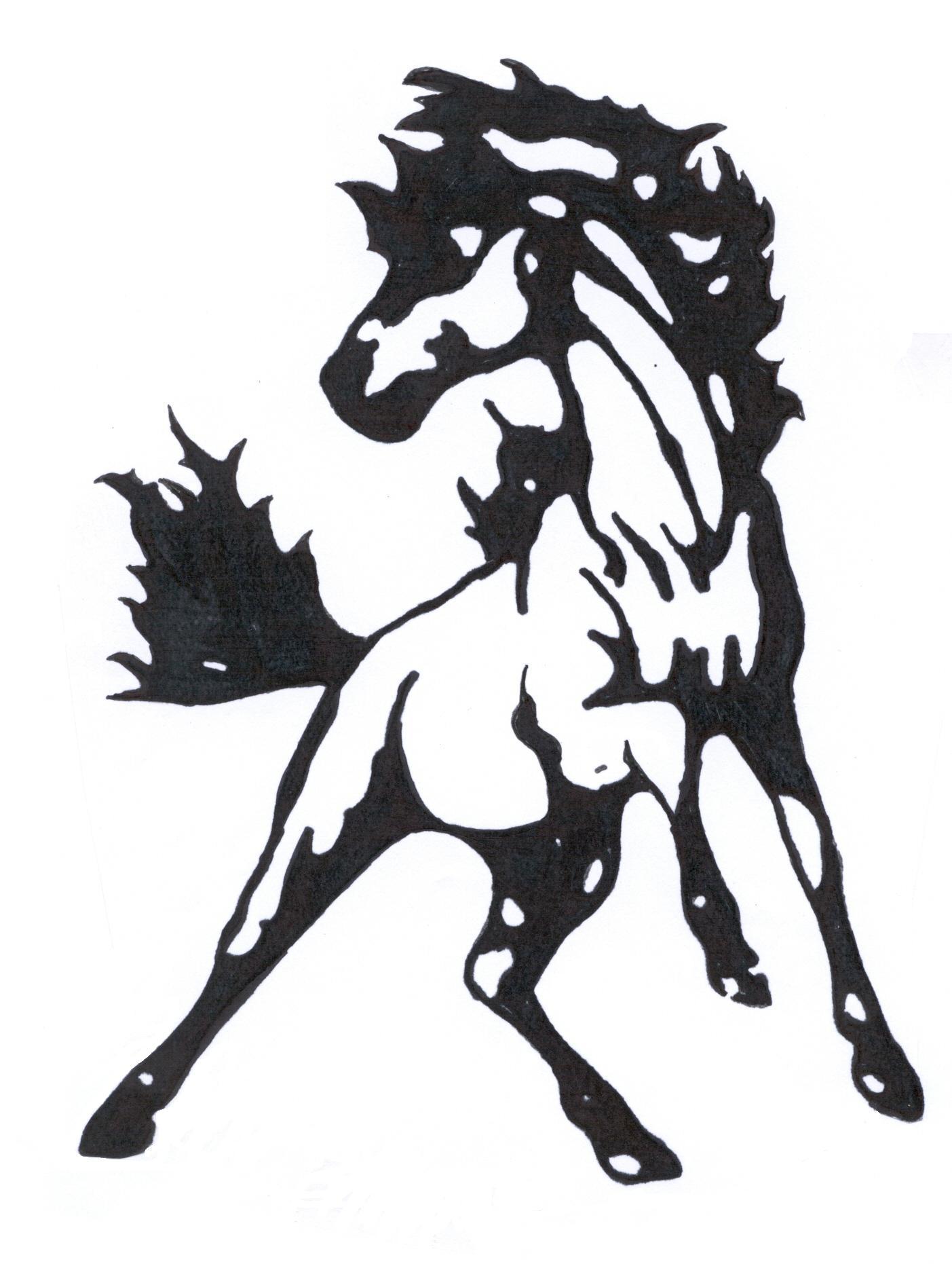 Mustang Mascot Logo Mustang2 Clipart